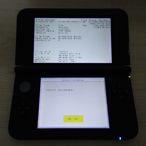 Gateway Emunand Offline Update for Nintendo 3DS / 3DS XL and