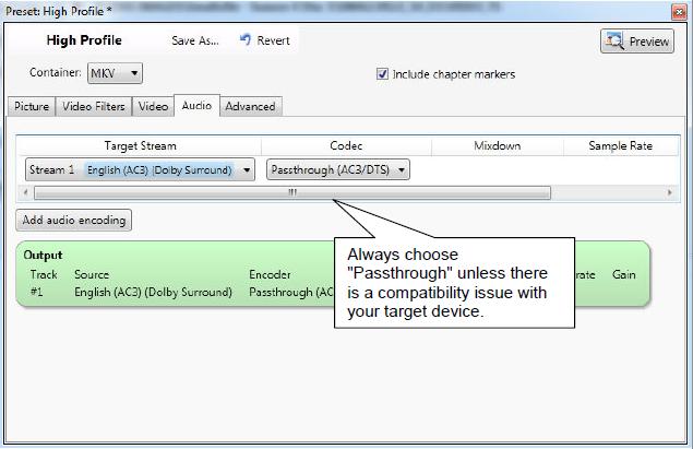 VidCoder Settings Tutorial - High Quality H.264 (x264) MKV Video Encoding-5-vidcoder-settings-audio-tab.png