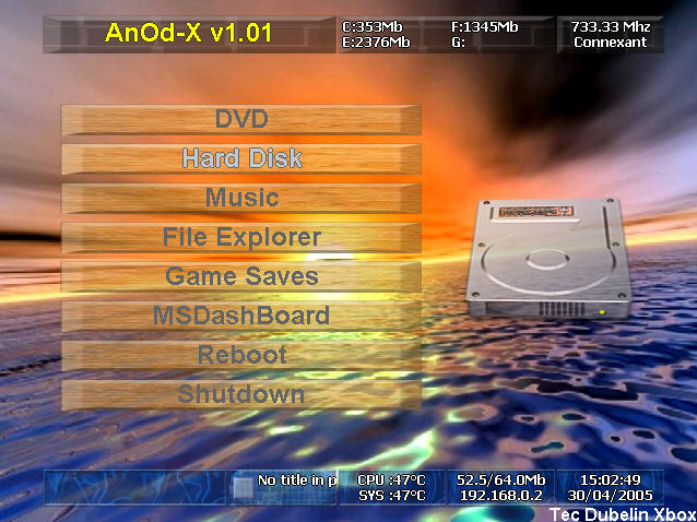 Xbox Anod-X Dashboard Drivers PC