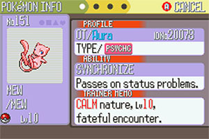 how do i get mew in fire red