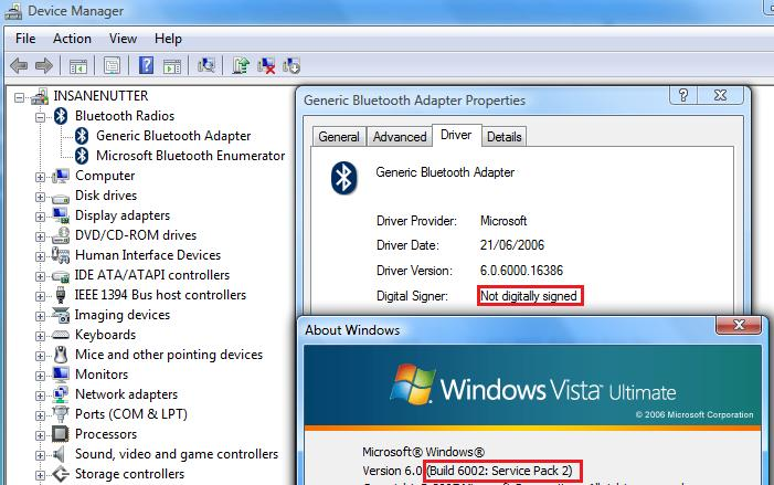 Driver for isscedrbta bluetooth dongle in windows xp sp2 and sp3.