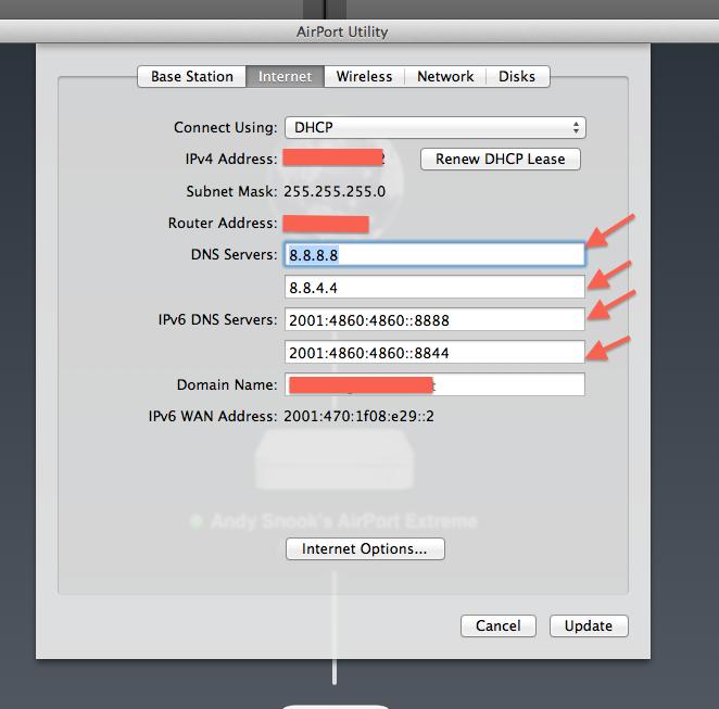 Setting up IPv6 DNS Entries