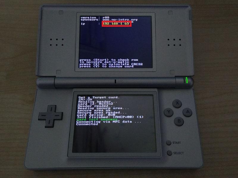 Dump Nintendo DS Game Cartridges Over Wi-Fi [Dump Nintendo