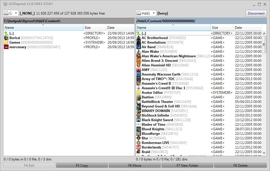 GODspeed - FTP client for JTAG / RGH / Devkit Xbox 360