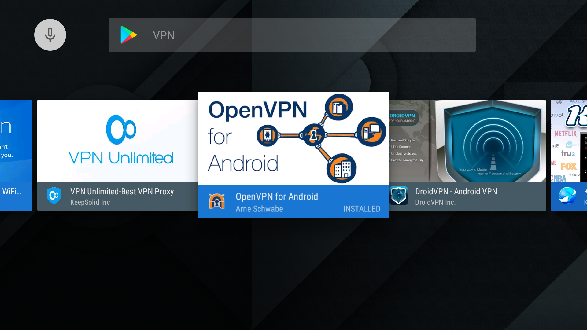 Configuring OpenVPN / NordVPN on Nvidia Shield TV / Android TV using
