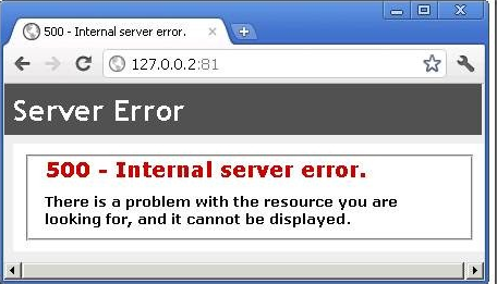 IIS: Automatically detect 500 (Internal Error) and Recover the
