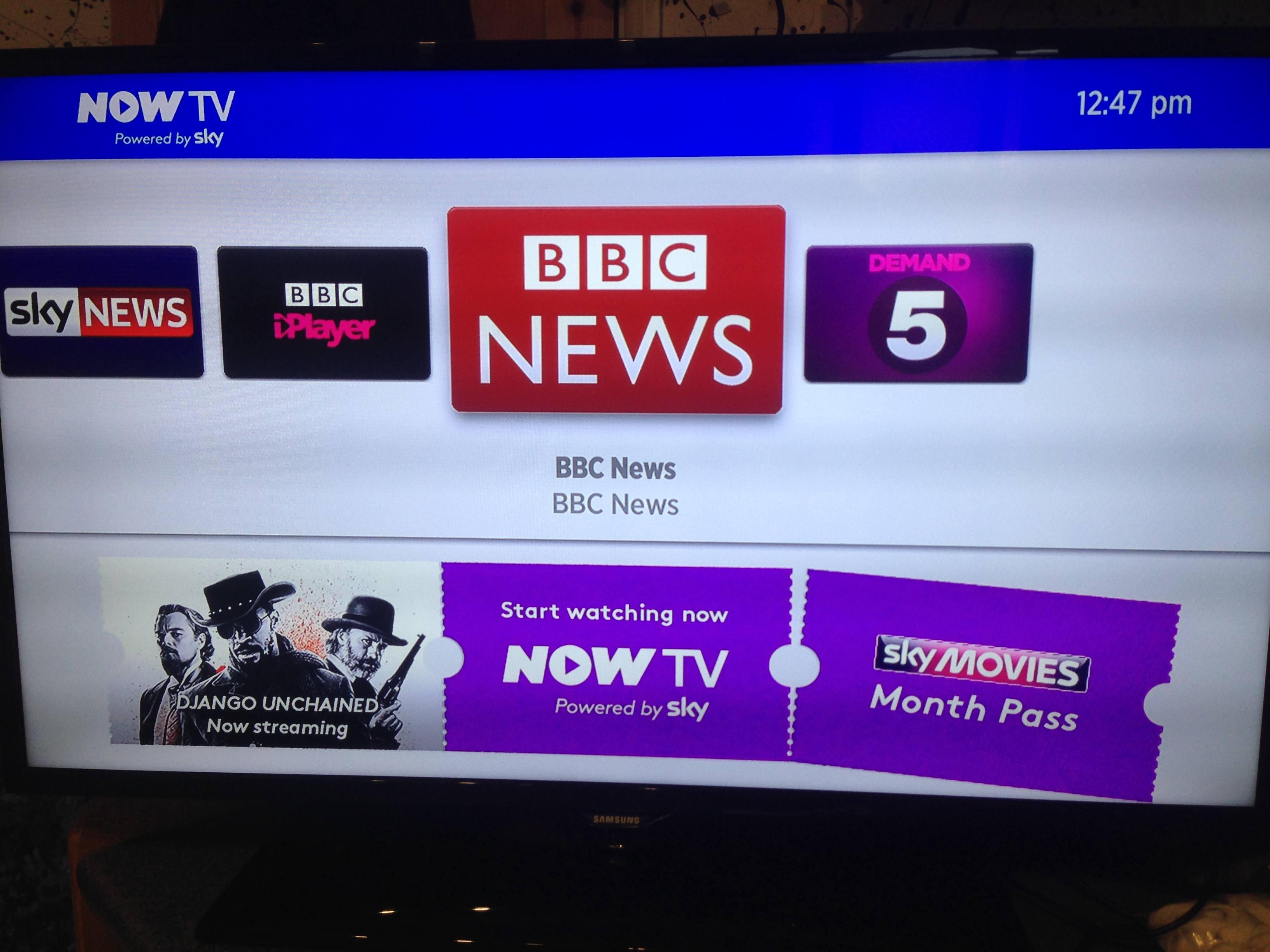 Now TV Box Stock Menu
