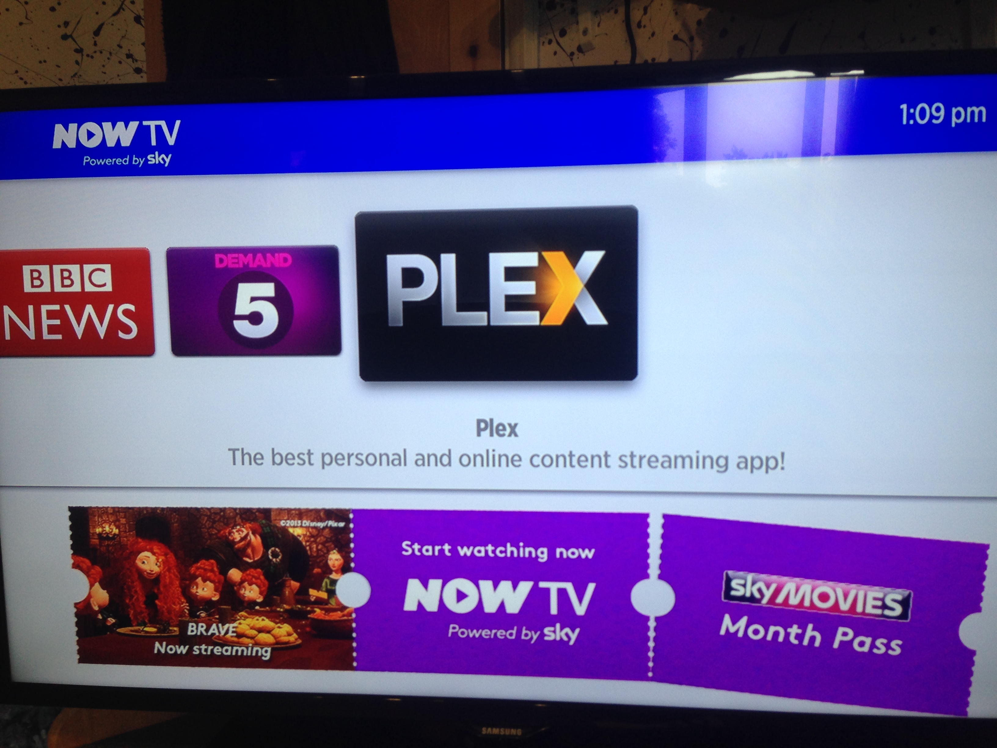 Plex Installed on NowTV Box