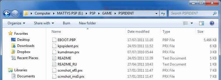 psp officiel 5.0.3