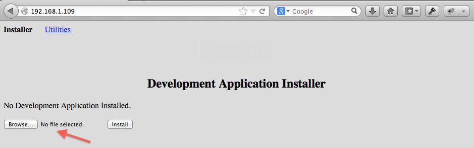 Roku Development Application Installer