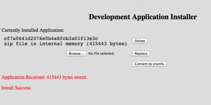 Roku Development Installer Success