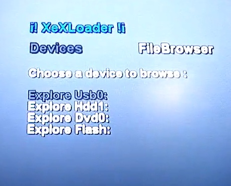 XeX Loader 0.12 - Loader for 360 Apps and Homebrew-screen1.jpg