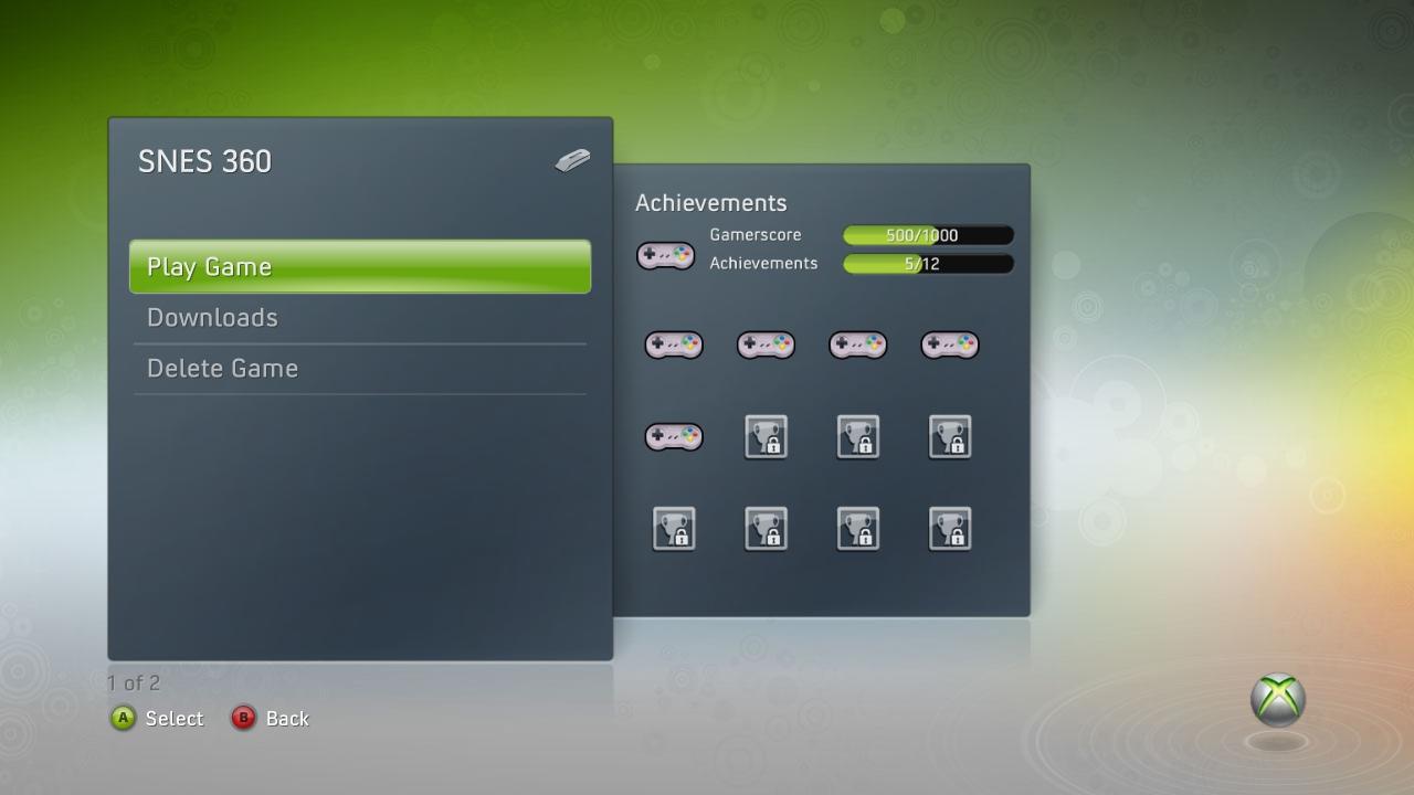 SNES360 (Snes Xbox 360 Emulator) Beta V0.21 Download - Super Nintendo Emulator-snes360achievements.jpg