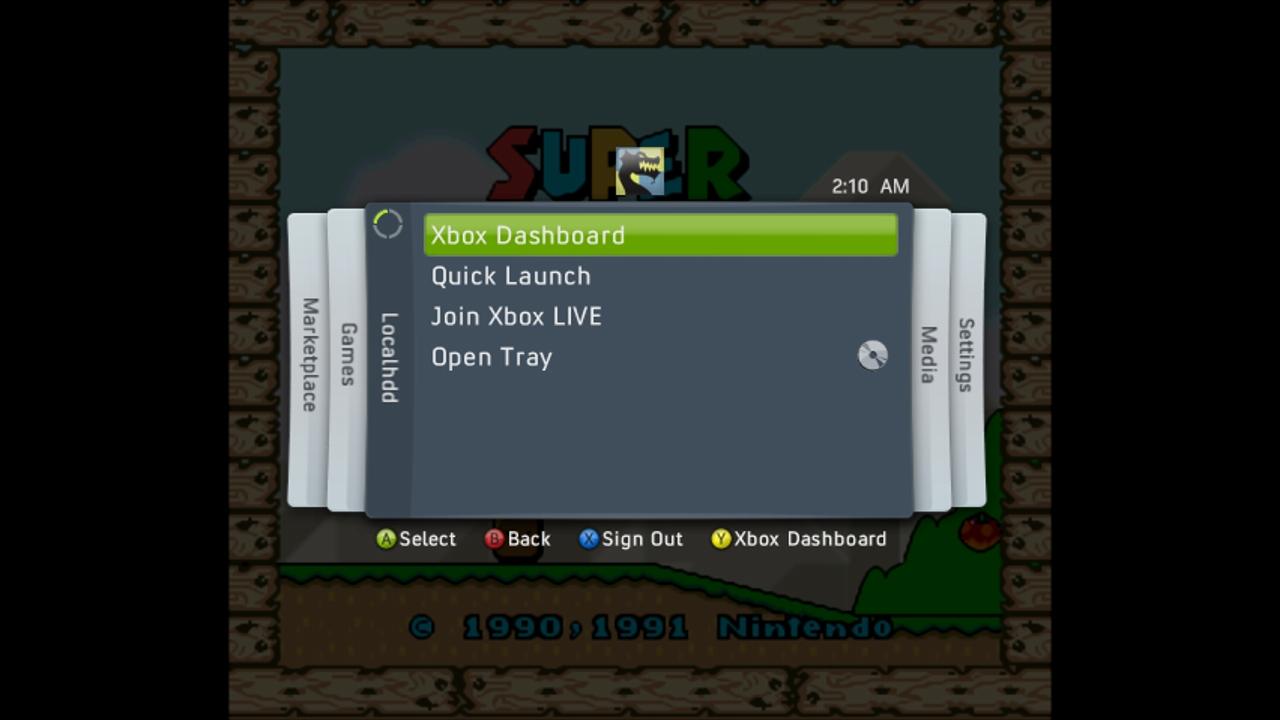 SNES360 (Snes Xbox 360 Emulator) Beta V0.21 Download - Super Nintendo Emulator-snes360ingameonxbox360.jpg