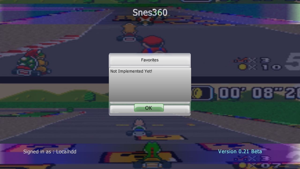 SNES360 (Snes Xbox 360 Emulator) Beta V0.21 Download - Super Nintendo Emulator-snes360mainmenufavoritest.jpg