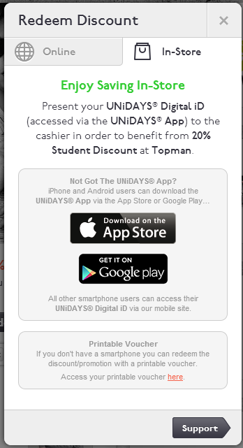 UK] Ex-students – Still get student discount at retail shops
