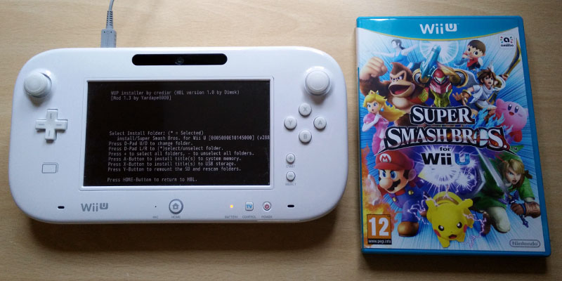 Install Wii U Games, DLC and Updates using Wii U WUP