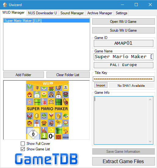 Uwizard - Wii U WUD Manager and NUS Downloader | Digiex