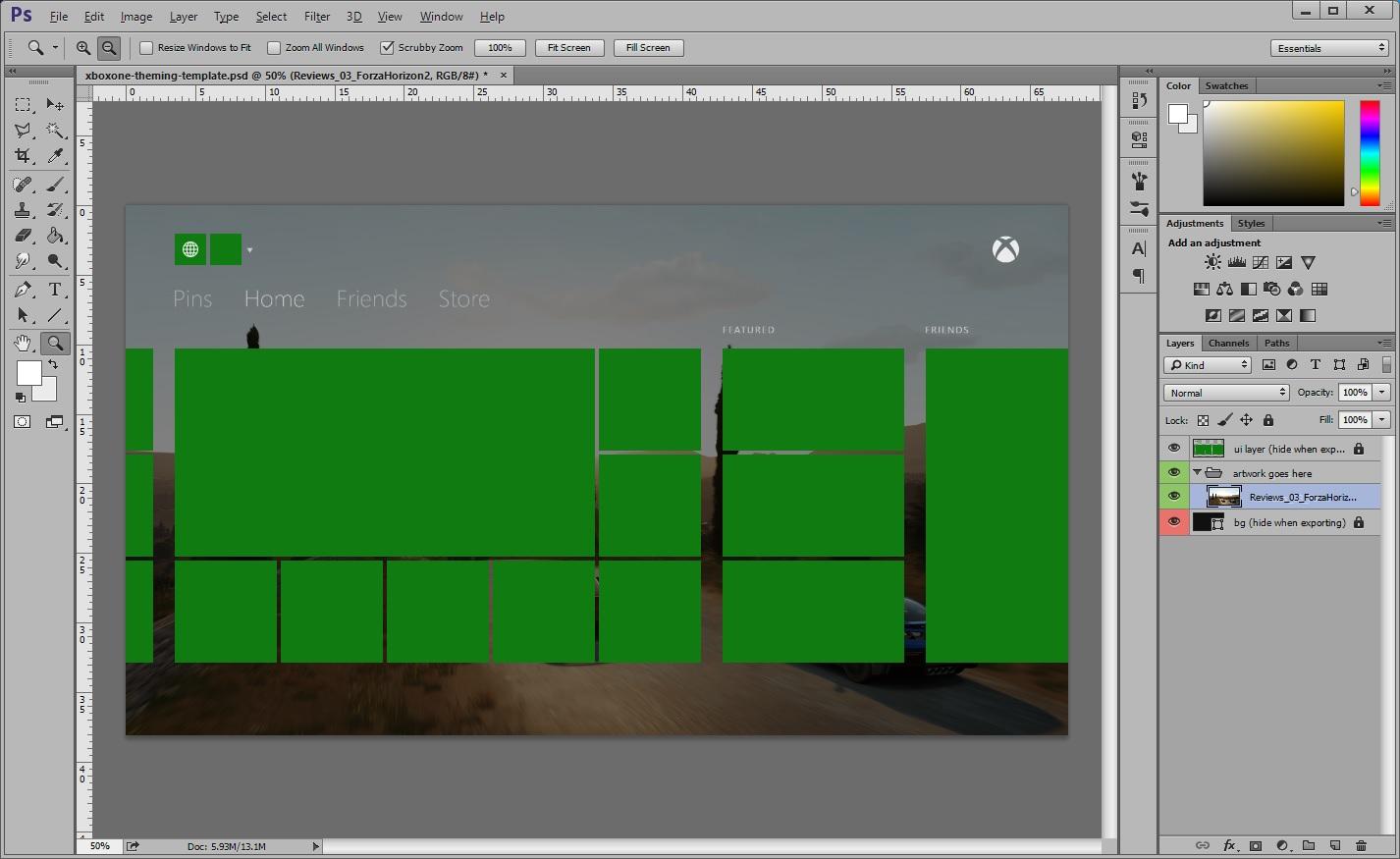 xbox one photoshop dashboard template digiex